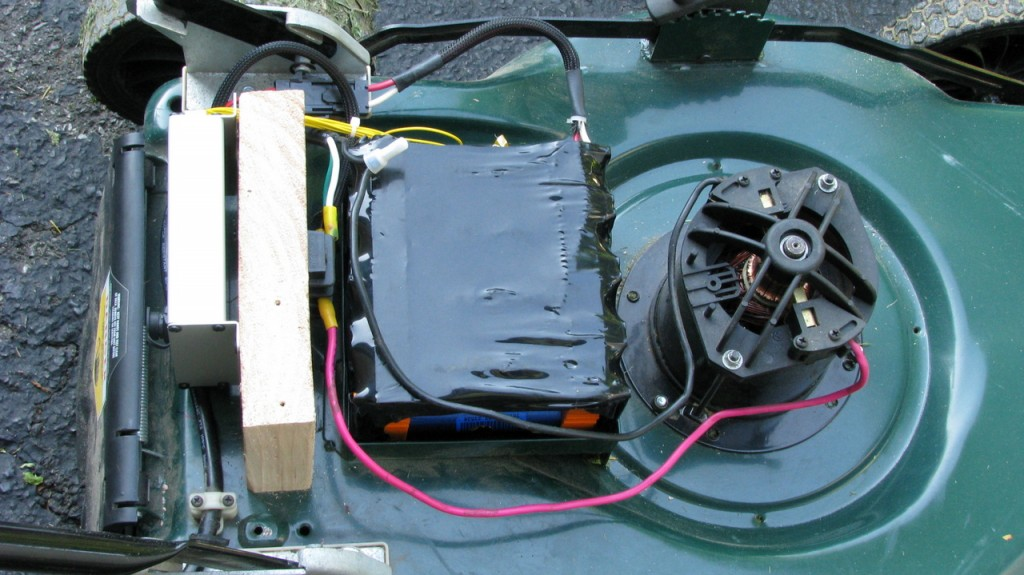 Upgrading An Electric Lawn Mower To Lithium Batteries