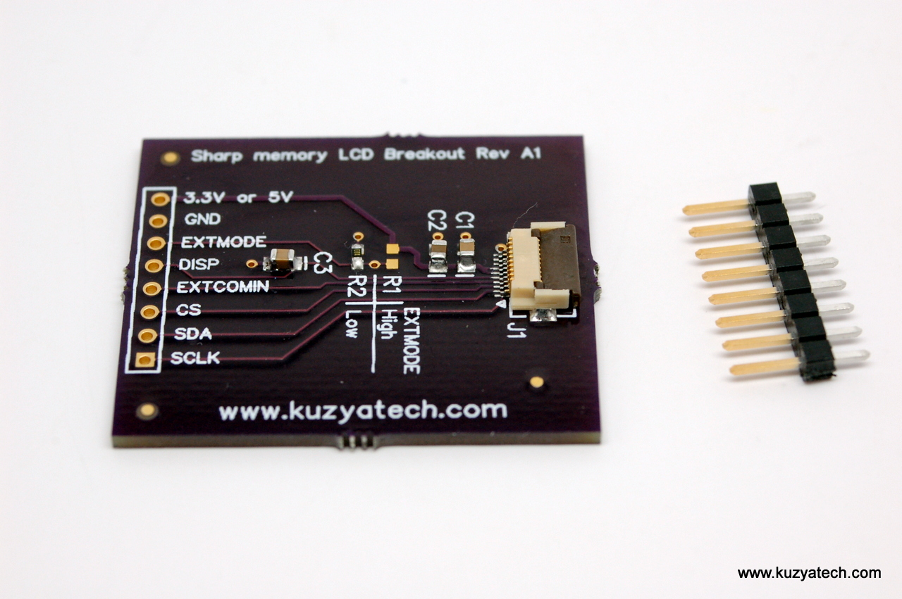 First product for sale Sharp Memory LCD breakout KuzyaTech