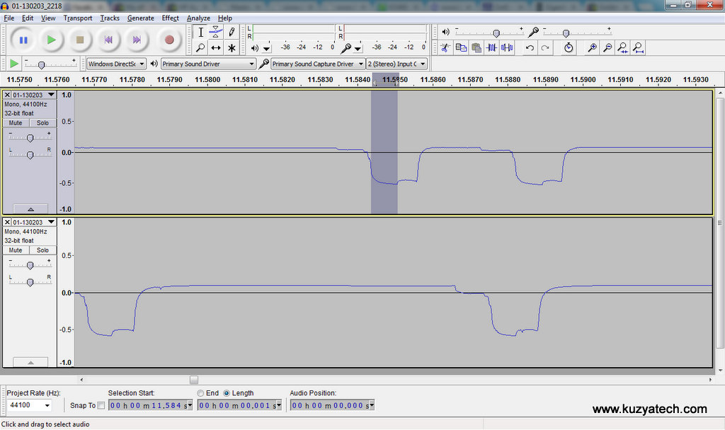 Several channels can be opened and analysed at once in Audacity, once recorded by the Reaper
