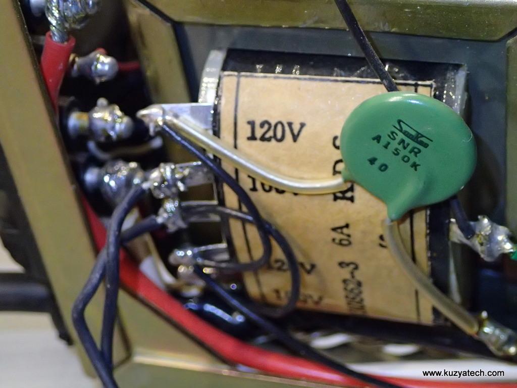 All open wiring, no heatshrink in sight
