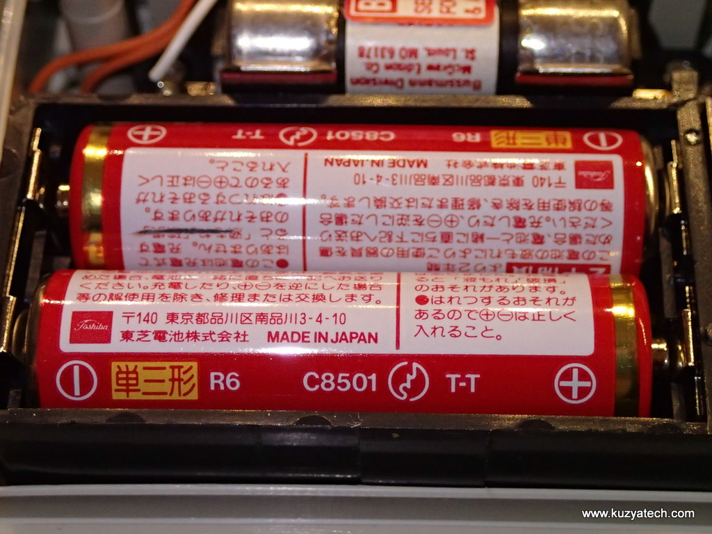 Original batteries. 2xAA is a bit unusual for the DMMs then