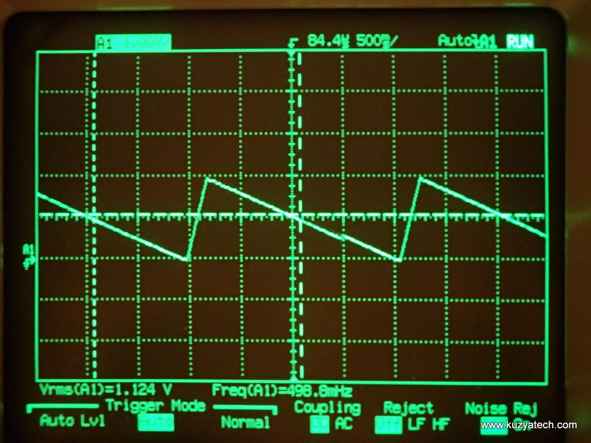 Test signal waveform