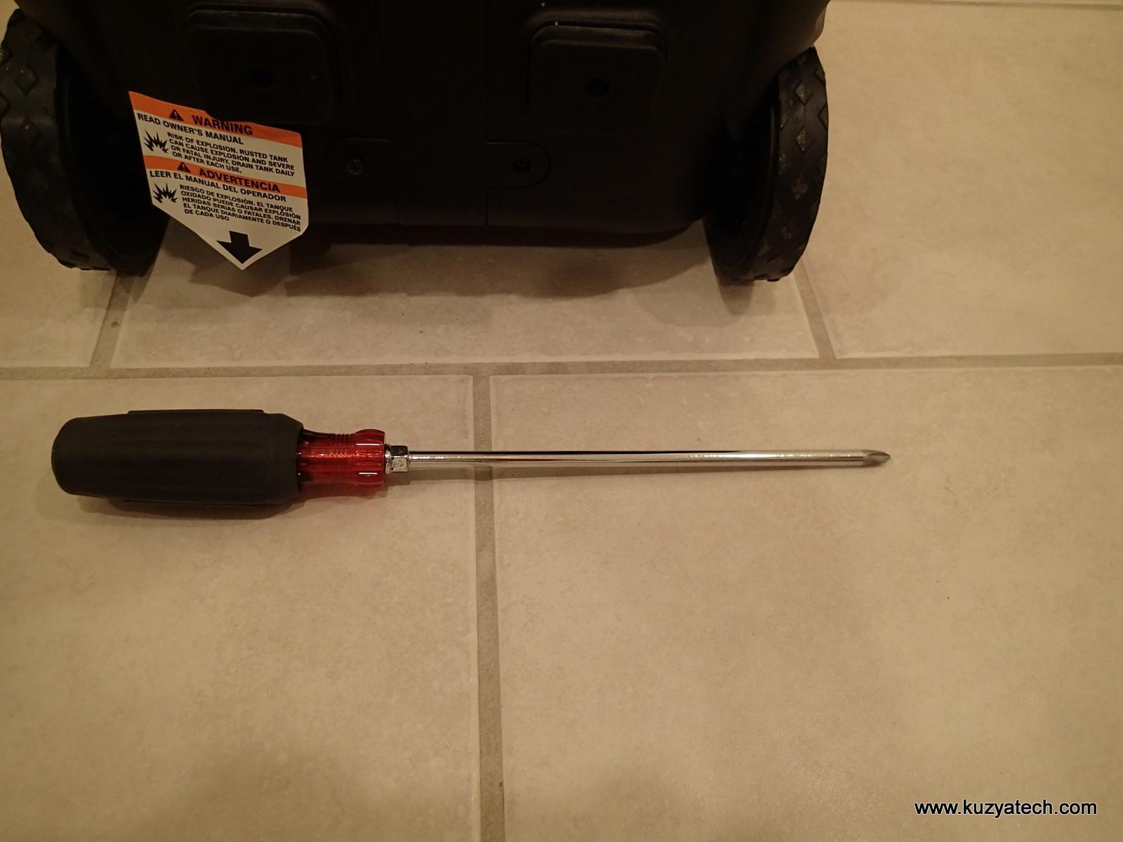 Long screwdriver is needed