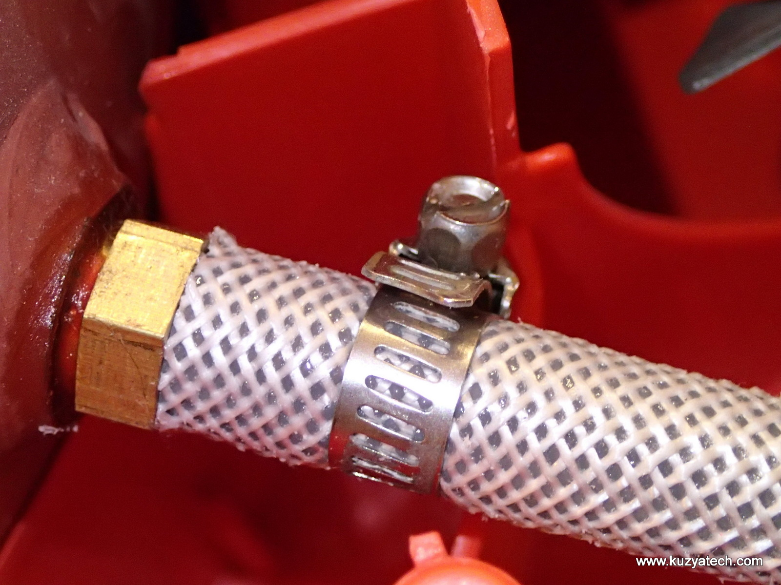 Replace and tighten the clamp