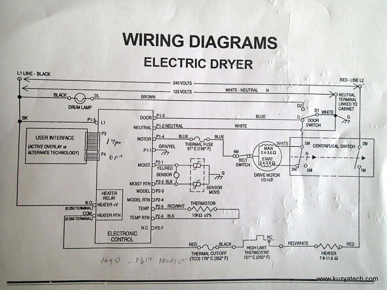 Wiring Diagram For Whirlpool Duet Dryer Heating Element : Wiring diagram for electric clothes dryer oven