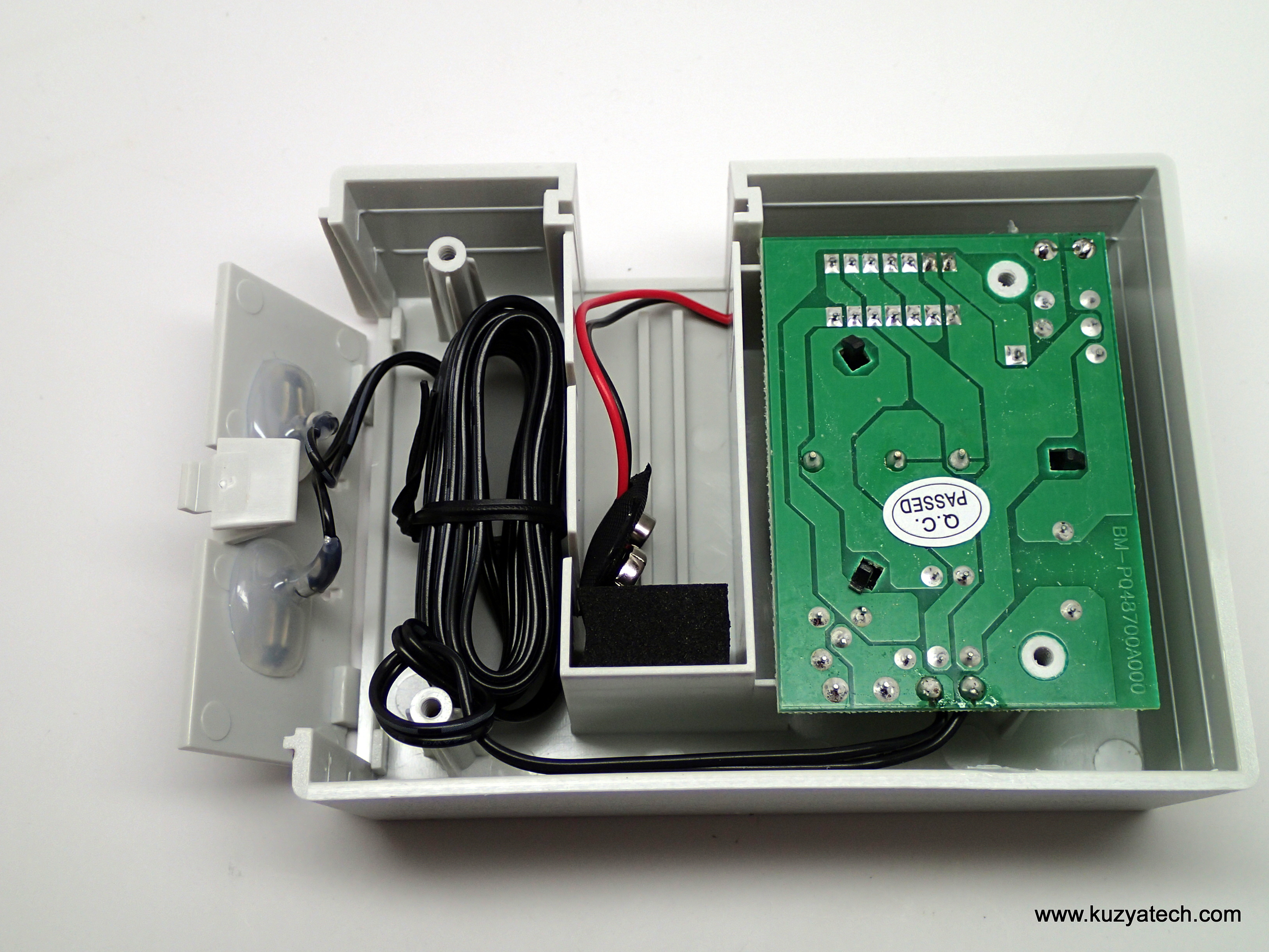 Rain Water Alarm Circuit Watchdog Teardown Kuzyatech Rear Cover Off